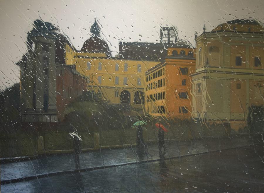 """""""Sant'Angelo"""" Oil on Canvas 110 x 150cm"""