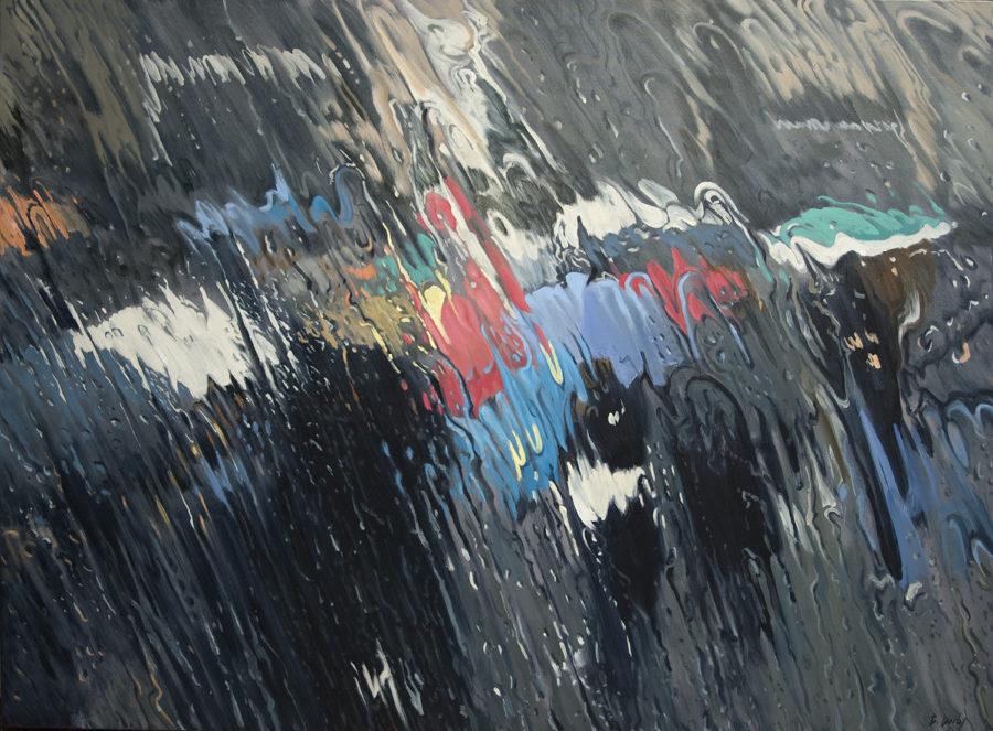"""""""Splash of Colour 2"""" Oil on Canvas 91 x 122cm"""