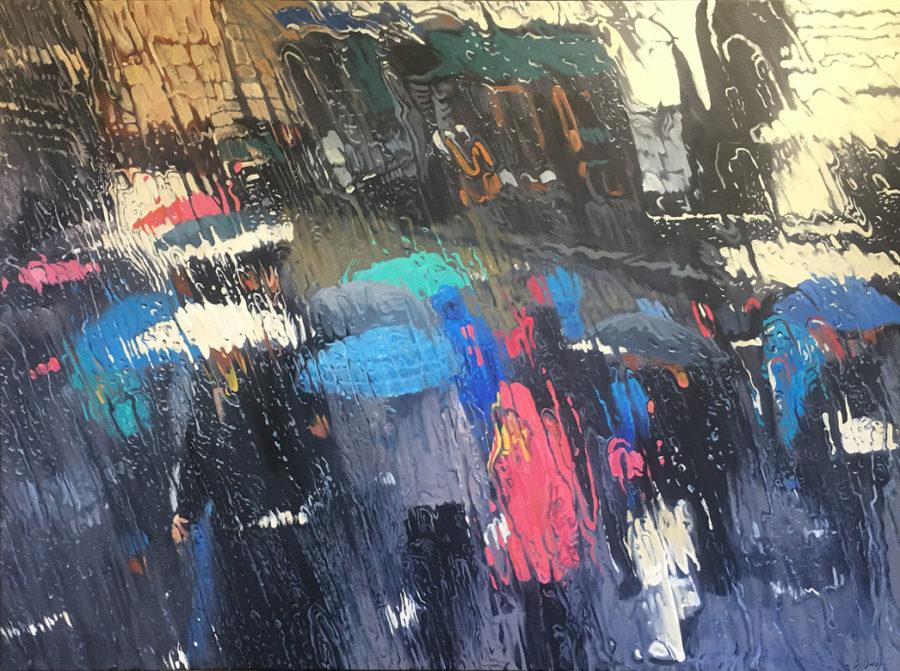"""""""Splash of Colour"""" Oil on Canvas 110 x 150cm"""