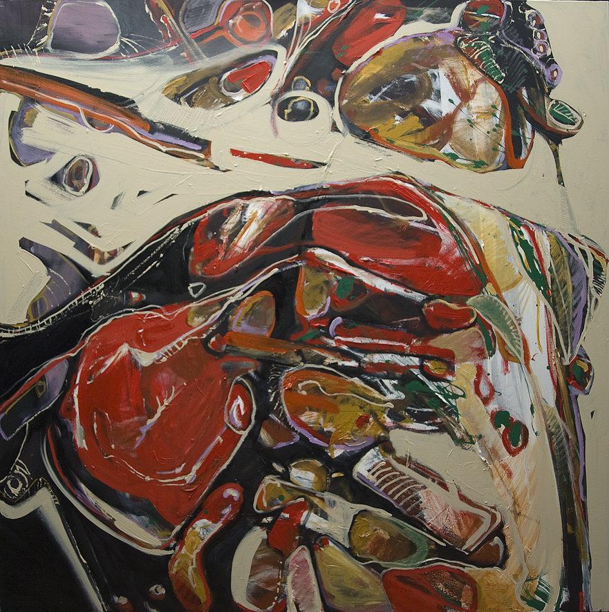 """""""Antonella's Caponata A"""" Oil on Canvas 122 x 122cm"""