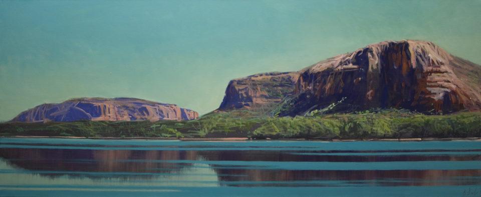 """Below Mitchell Plateau"" Oil on Canvas 61 x 122cm"