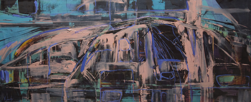 """Below Mitchell Plateau A"" Oil on Canvas 61 x 122cm"