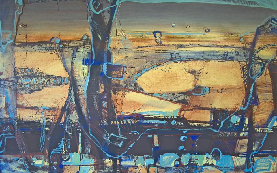 """Cockatoo Falls A"" Oil on Acrylic on Canvas 110 x 150cm"