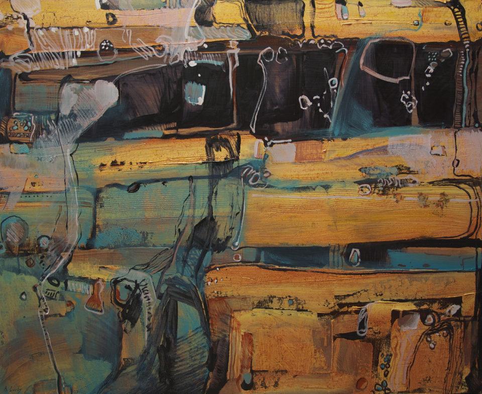 """""""Into the Gorge - Karijini A"""" Oil on Acrylic on Canvas 122 x 152cm"""