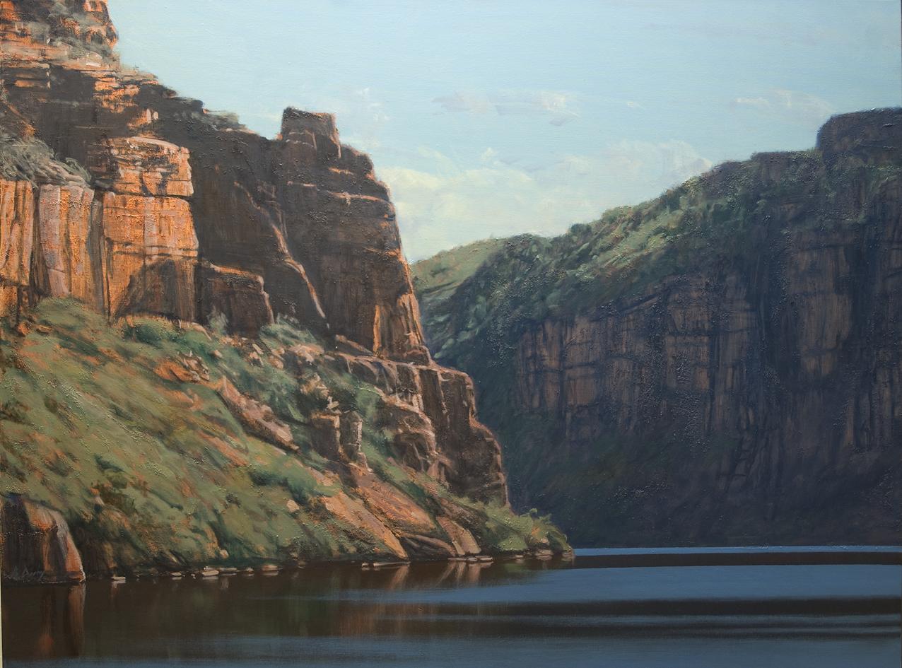 """On the Berkeley River"" Oil on Acrylic on Canvas 92 x 122cm"
