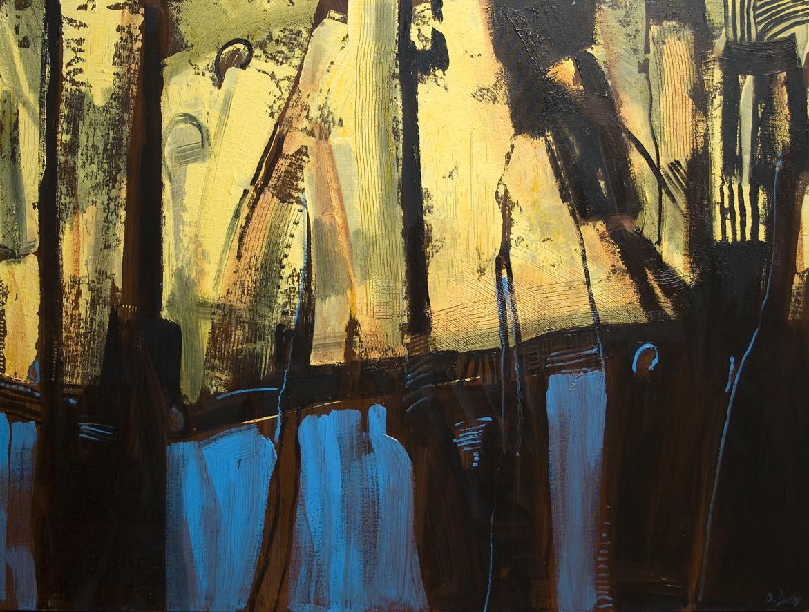 """To the Light A"" Oil on Acrylic on Canvas 92 x 122cm"