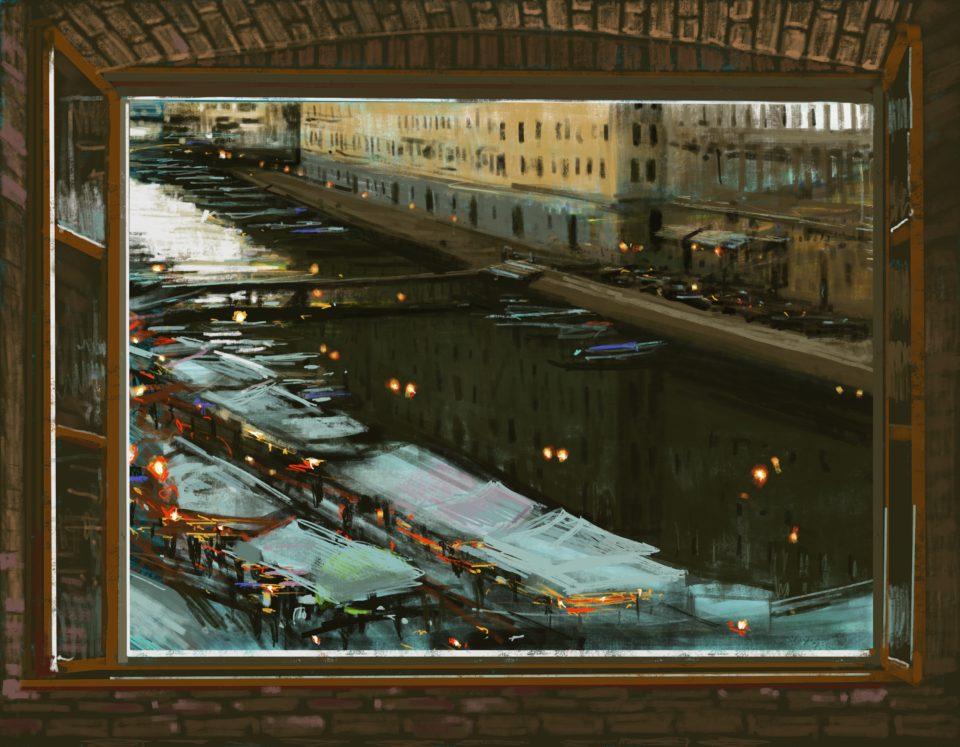 """""""Trieste Window"""" Digital Print 70 x 90cm"""