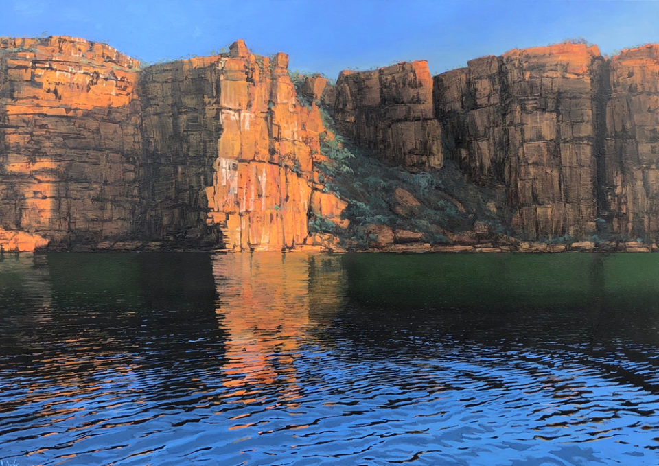 """Along the King George"" Oil on Acrylic on Canvas 120 x 170cm"