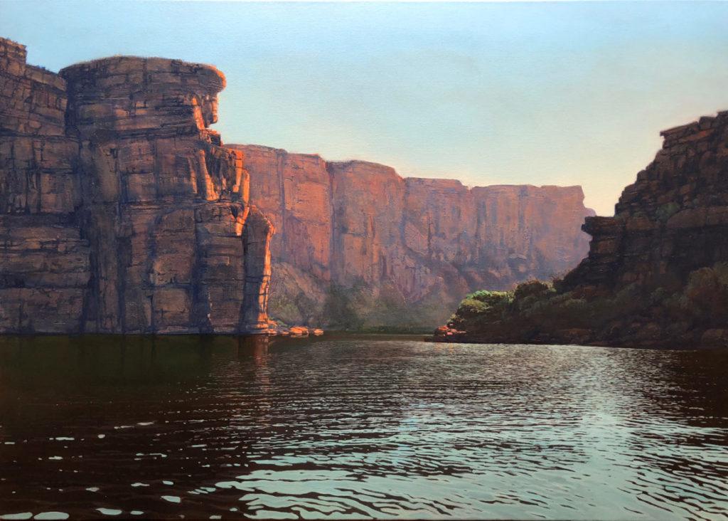 """""""Dusk King George"""" Oil on Acrylic on Canvas 120 x 170cm"""