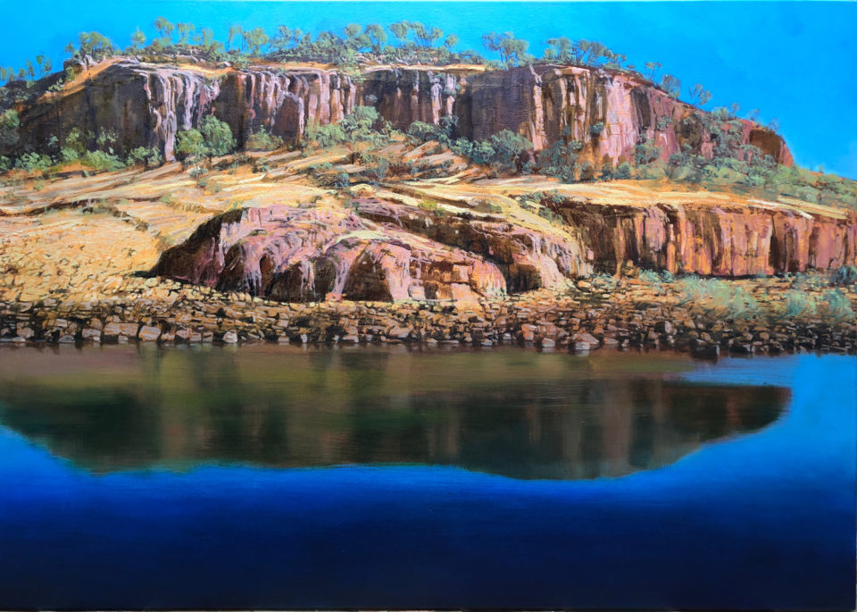 """Entering Katherine Gorge"" Oil on Acrylic on Canvas 120 x 170cm"