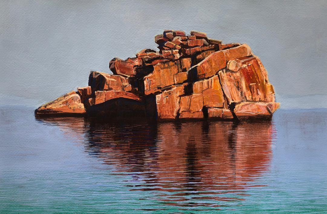 """Island - Kimberley"" Mixed Media on Paper 30 x 46cm"