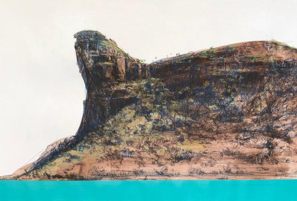 """Kimberley Sphinx"" Mixed Media on Paper 36 x 54cm"