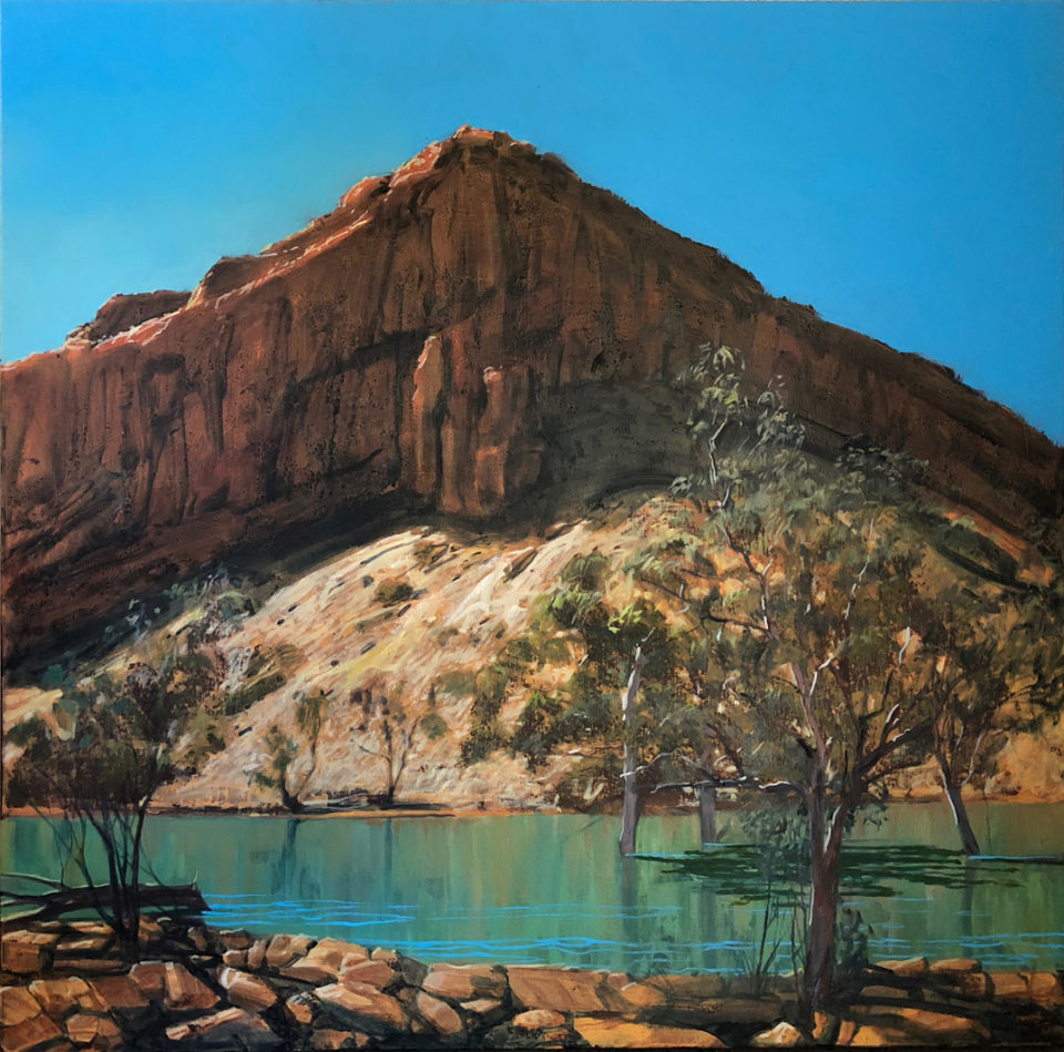 """Larapinta Trail - West MacDonnell Ranges"" Oil on Acrylic on Canvas 91 x 91cm"