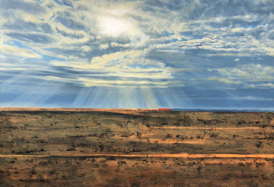 """""""The Ghan"""" Oil on Acrylic on Canvas 120 x 170cm"""