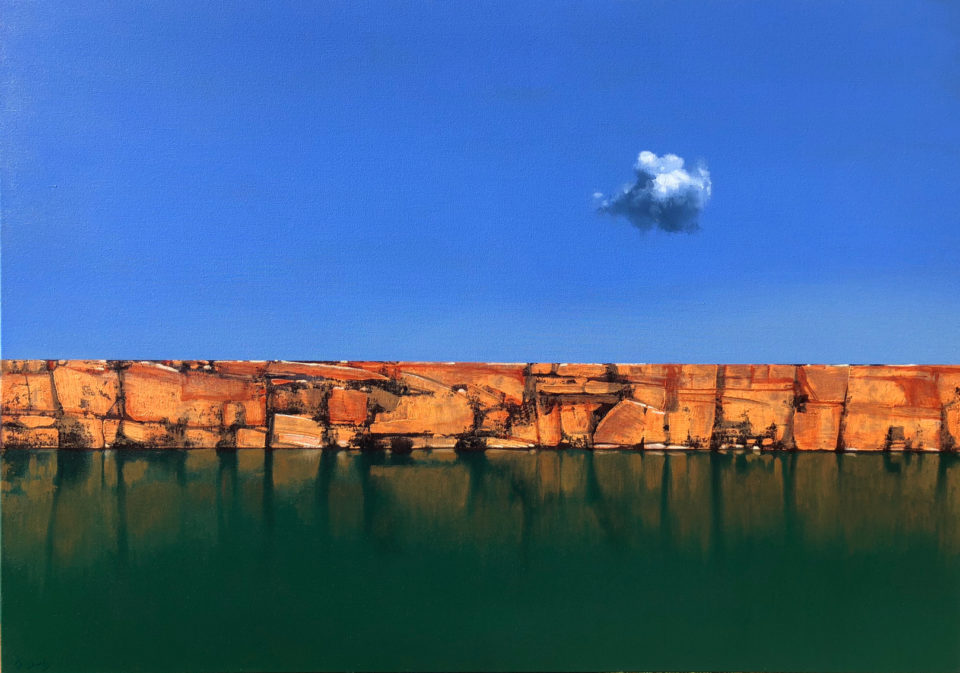 """""""The Lonely Cloud"""" Oil on Acrylic on Canvas 120 x 170cm"""