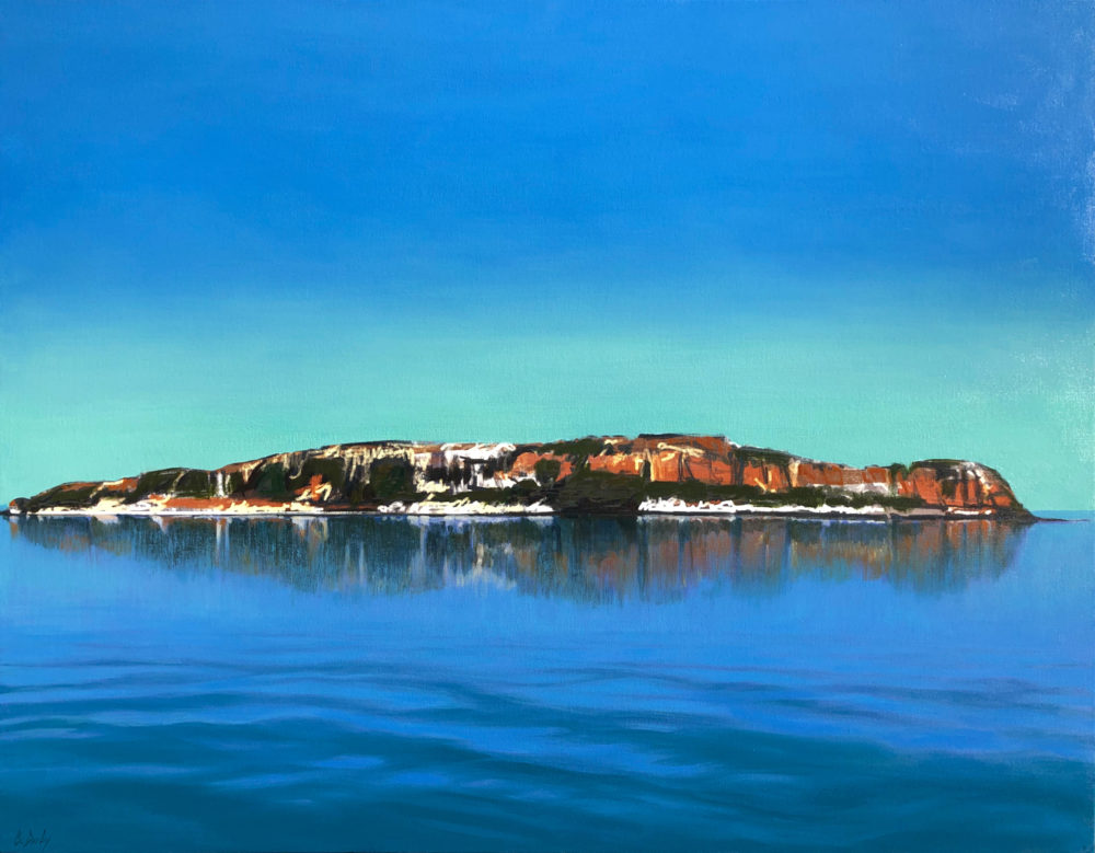 """""""Collier Bay Island"""" Digital and Mixed Media on Canvas 99 x 127cm"""