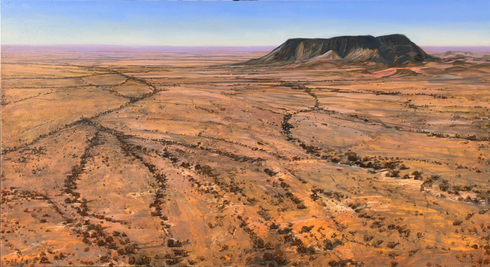 """Coober Pedy Plains"" Oil and Acrylic on Canvas 90 x 170cm"