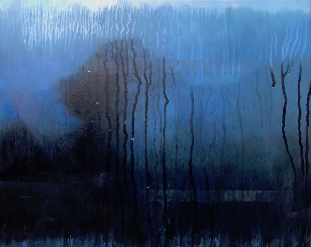 """Rain Tree"" Oil on Canvas 122 x 152cm"