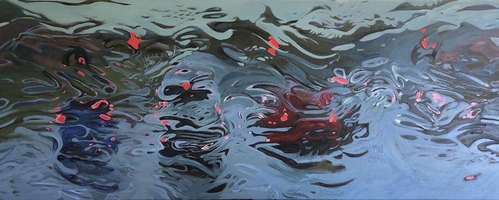 """Soluble Cars"" Oil on Canvas 60 x 120cm"