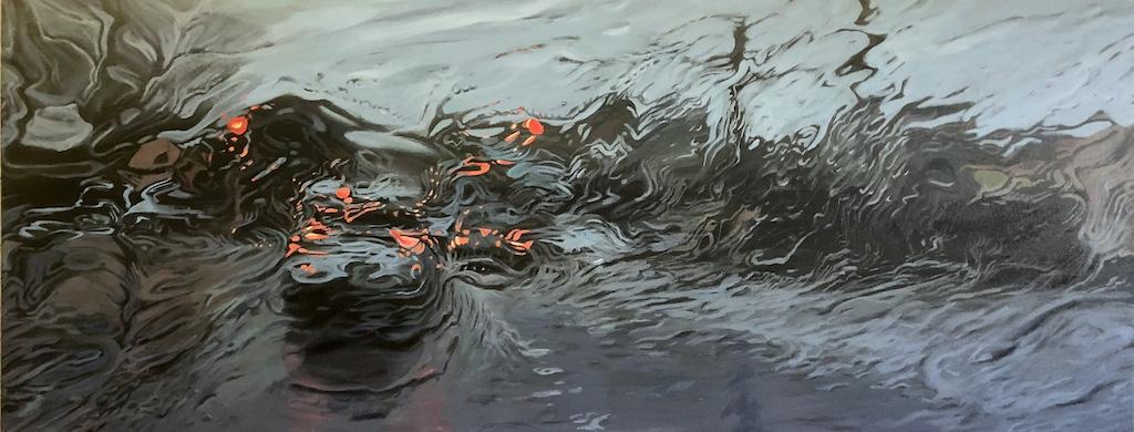 """""""Wet Wait"""" Oil on Canvas 60 x 120cm"""