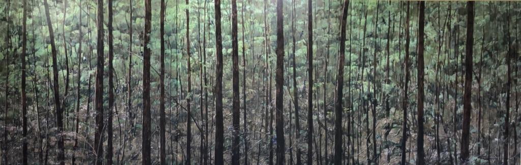 """Birdland"" (Triptych) Oil on Acrylic on Canvas 1.2m x 3.6m"