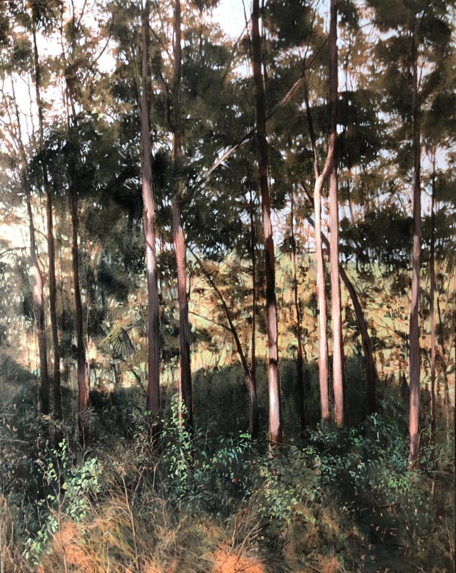 """Visitor"" Oil on Acrylic on Canvas 150 x 120cm"